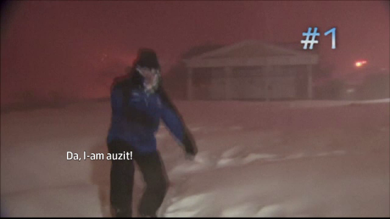 Entuziasmul unui prezentator meteo a strans 3 milioane de vizualizari. Cum a reactionat in timpul unei ninsori cu fulgere