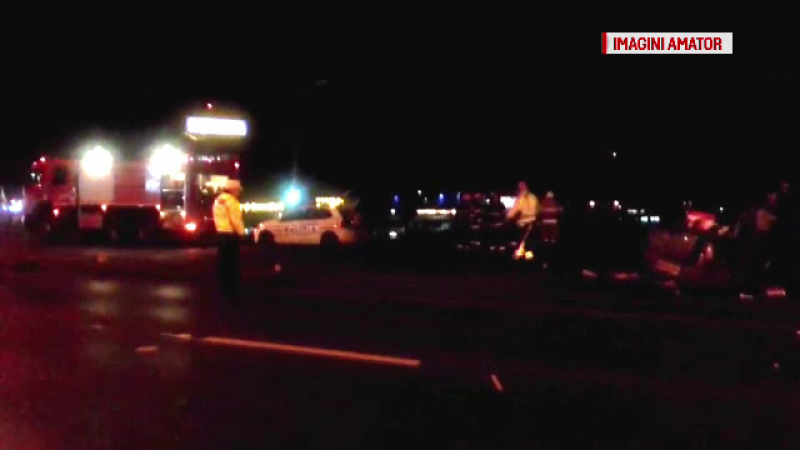 Grav accident de circulatie pe podul Baneasa, la intrarea in Capitala. Patru persoane au fost ranite