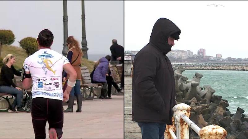 In 30 de ore, locuitorii din Constanta au avut parte de doua anotimpuri. Temperaturile au scazut brusc de la o zi la alta