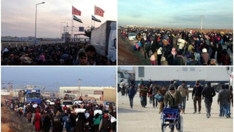 Ofensiva lui Bashar al-Assad asupra orasului Alep a creat un nou val de refugiati. 40.000 de sirieni au fugit spre Turcia