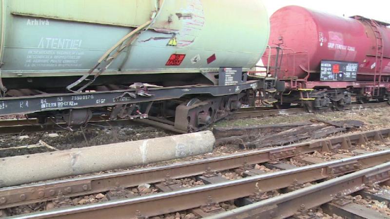 O garnitura de tren marfar a deraiat in Salaj. Circulatia feroviara a fost blocata in zona