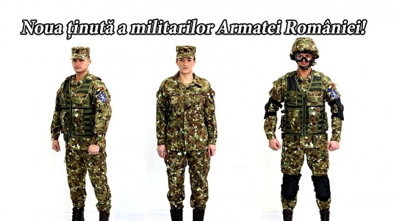 Cum vor arata uniformele de instructie ale Armatei Romane, din 2017