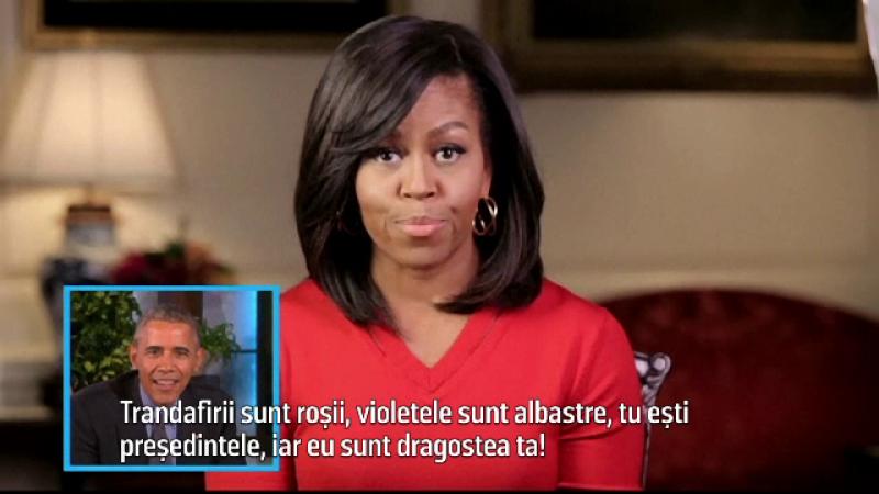 Declaratia de iubire pe care i-a facut-o Barack Obama sotiei, in direct.