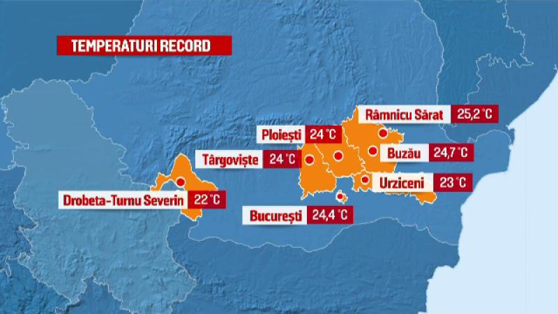 Cea mai calda zi de februarie din ultimii 55 de ani. Orasul in care temperatura e cu 17 grade Celsius peste valorile normale