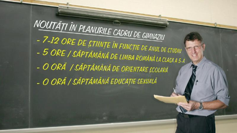 Mult accent pe stiinte si pastrarea a 5 ore de Romana la clasa a V-a, planul-cadru dorit de majoritatea profesorilor