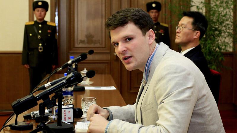 American de 21 de ani, fortat sa planga si sa ceara iertare in direct la televiziunea nord-coreeana. Faptele de care e acuzat
