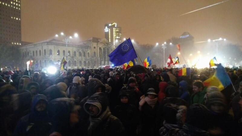 BBC a transmis live pe Facebook imagini de la protestele anti-Guvern.