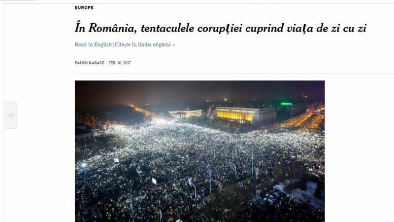 Articol in limba romana pe site-ul New York Times. Marturiile romanilor care au fost nevoiti sa dea spaga