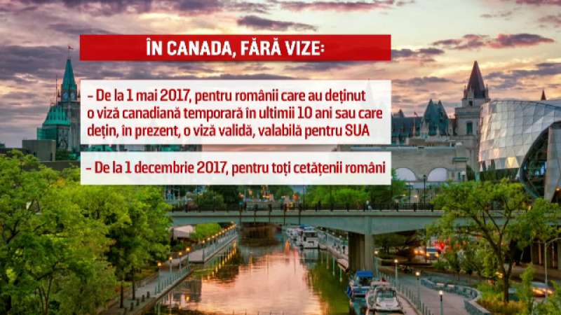 Vizele de Canada pentru romani, eliminate odata cu aprobarea acordului de liber schimb. Pe cine nemultumeste CETA