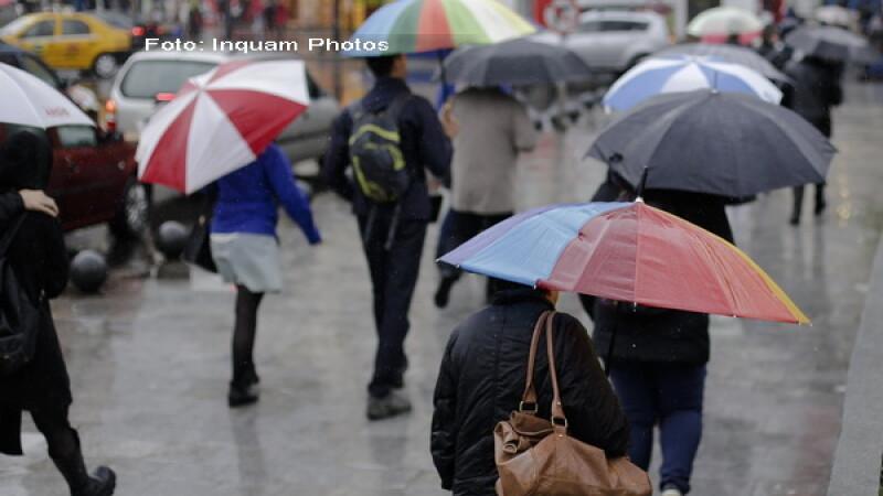 Vreme ploioasa in sud si sud-est, cu ninsori la munte si ceva soare in nord-vest. Prognoza meteo pentru urmatoarele trei zile