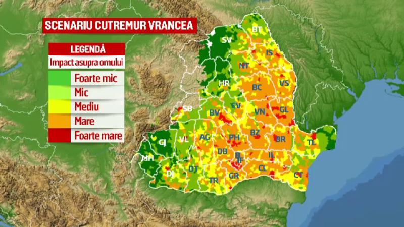 Scenariu sumbru al autoritatilor: cum va fi afectata Romania de un seism sau un dezastru nuclear. Doar vestul tarii ar scapa
