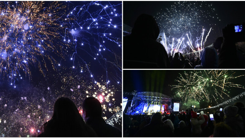 Singura petrecere de Revelion in aer liber din Capitala. Bucurestenii au invadat Parcul Titan sa vada focul de artificii