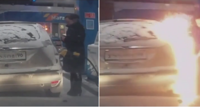 O rusoaica din Siberia si-a aprins o bricheta intr-o benzinarie. Ce a urmat depaseste orice imaginatie