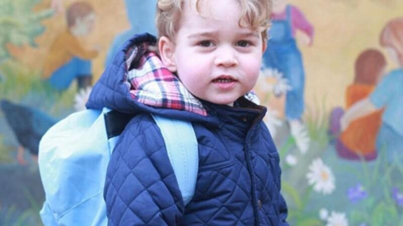 Prima zi de gradinita a Printului George. Fotografiile au fost facute chiar de catre mama sa, ducesa de Cambridge