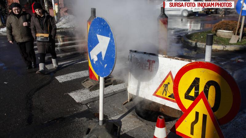 Ziua si avaria in Capitala. Peste 100 de blocuri au ramas fara caldura si apa calda in cartierul Militari. GALERIE FOTO