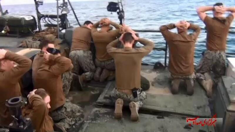 Iranul a difuzat imagini cu un marinar american care