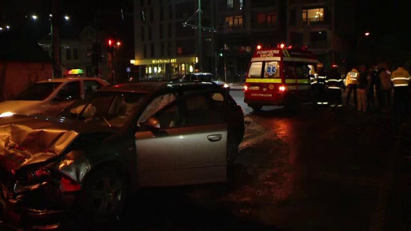 Accident intr-o intersectie din Timisoara. Doua persoane au ajuns la spital din cauza unui sofer care nu a acordat prioritate