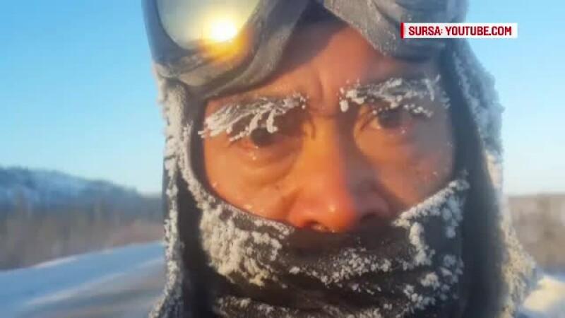Doarme afara la MINUS 21 de grade Celsius. Cum se pregateste un roman pentru cel mai friguros ultramaraton din lume