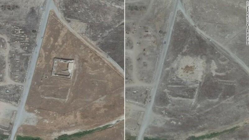 Cea mai veche manastire crestina din Irak, distrusa de jihadisti.