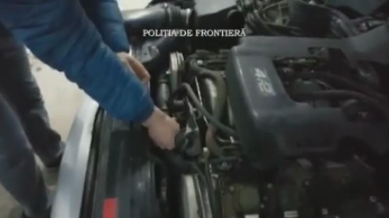 Ce au gasit politistii de frontiera in motorul unei masini ce venea din R. Moldova.