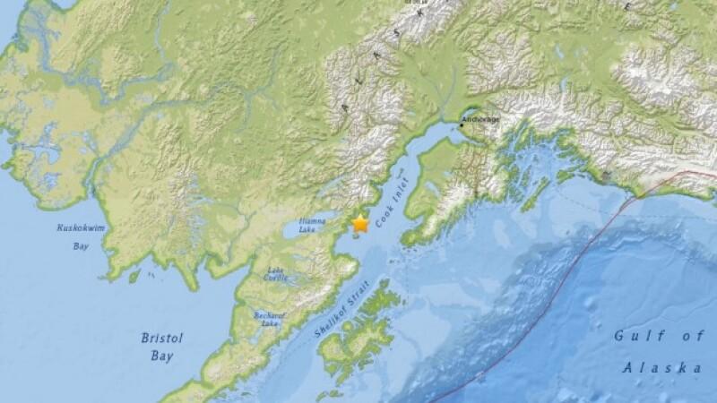 Cutremur cu magnitudinea 7,1 in Alaska