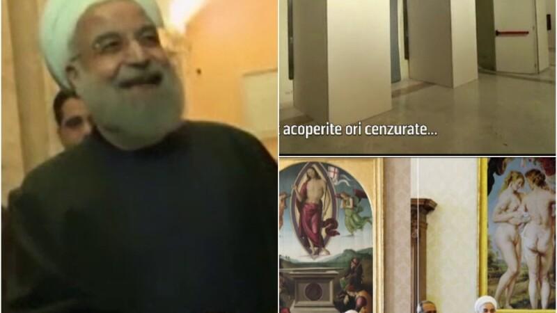 Parodiile care au aparut dupa vizita presedintelui iranian in Italia.