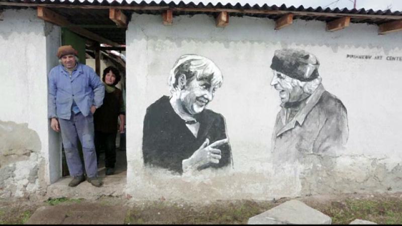 Un sat din Bulgaria, transformat intr-o atractie inedita. Casele, acoperite de grafitti ce-i infatiseaza pe Obama sau Merkel