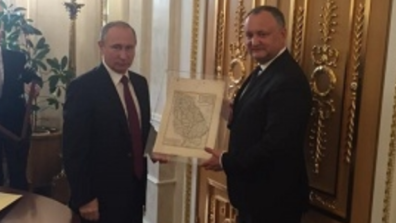 Cadoul primit de pro-rusul Igor Dodon de la Vladimir Putin: