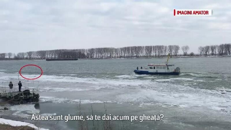 Femeia salvata din Dunare ar fi incercat sa isi ia viata, dupa ce s-a certat cu sotul ei. In ce stare se afla acum