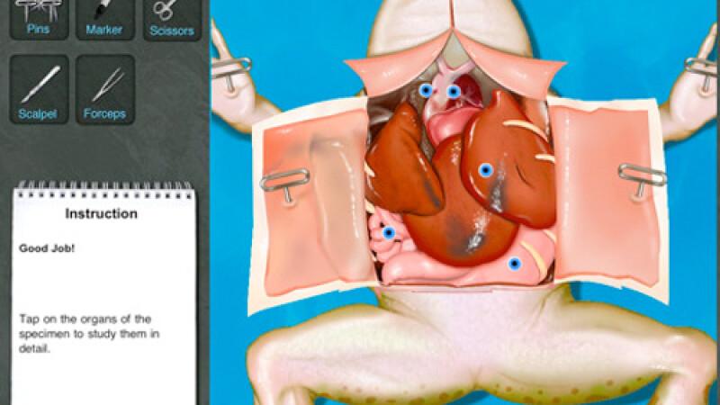 Salvati broscutele! Disectii virtuale, noua moda in aplicatii pe iPad