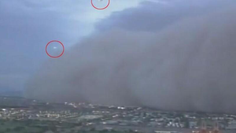 Doua OZN-uri evadeaza din iadul de nisip din Arizona. VIDEO