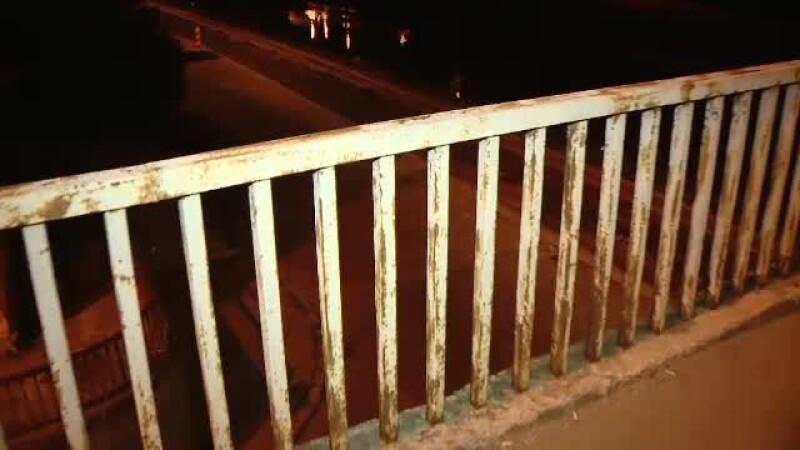 Incident sinistru in Timisoara. Un barbat a murit dupa ce a cazut de pe un pod inalt de 10 metri