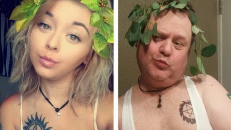 tata si fiica pe Instagram