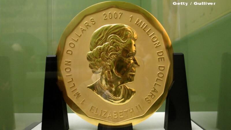 Politia din Berlin a arestat mai multi suspecti, care ar fi furat o moneda de aur de 100 de kilograme. Cat valoreaza banul
