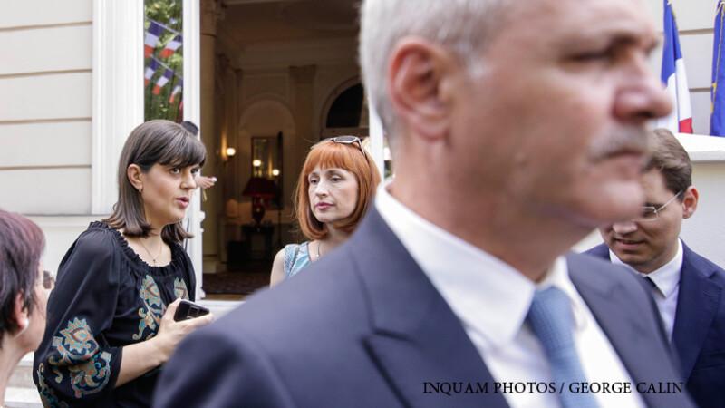 Liviu Dragnea si Laura Codruta Kovesi participa la receptie oficiala ocazionata de Ziua Nationala a Republicii Franceze, in Bucuresti,