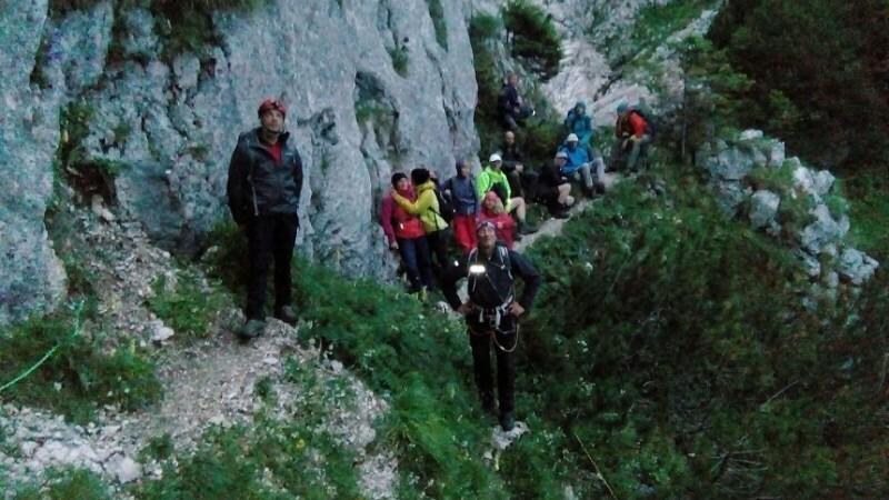 11 turisti din Ungaria, recuperati din Piatra Craiului, dupa ce au ramas blocati. Operatiunea a durat 12 ore