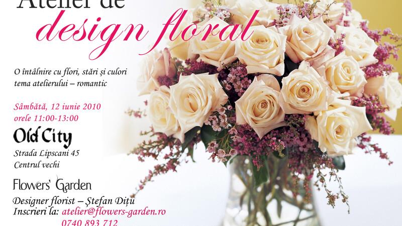 Intra in lumea florilor! Ateliere dedicate designului floral