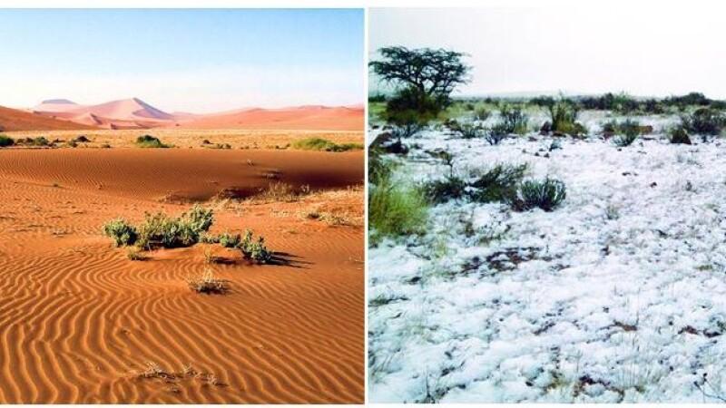 Haos climatic. A nins in mijlocul desertului. FOTO
