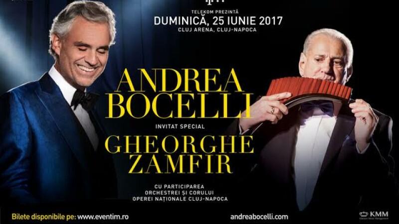Andrea Bocelli vine in Romania in mai putin de 10 zile
