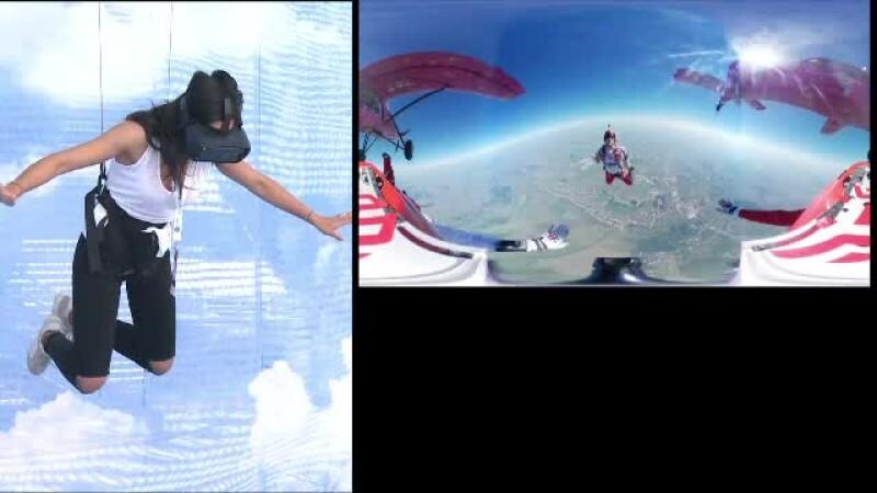 Realitatea Virtuala, la ICEE.fest. Persoanele au putut experimenta saltul in gol cu parasuta