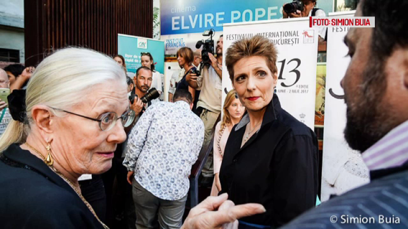 Actrita si regizoarea Vanessa Redgrave, invitata speciala la Bucuresti.