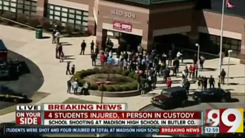 Atac armat intr-o scoala din Ohio: un elev de 14 ani a tras mai multe focuri de arma si a ranit 4 copii. Ce explicatie a dat