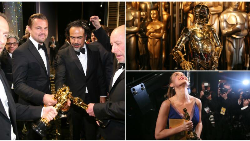Ce nu s-a vazut la televizor. Cele mai tari momente din culisele Premiilor OSCAR 2016: cum au sarbatorit vedetele. FOTO
