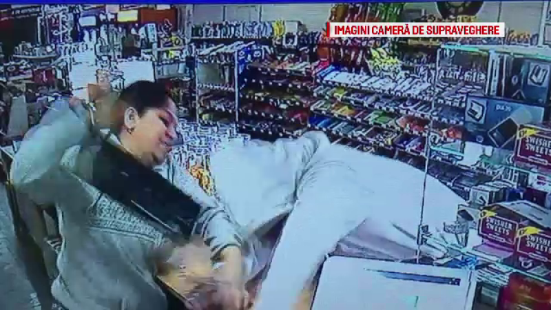 Un furt bine pus la punct s-a terminat dezastruos pentru hot. A fugit din magazin si filmat, si batut zdravan de casiera