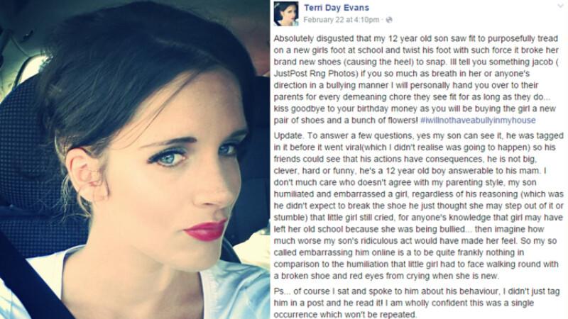 S-a infuriat dupa ce fiul ei si-a batut joc de o colega, asa ca a decis sa ii dea o lectie. Ce a postat mama lui pe Facebook