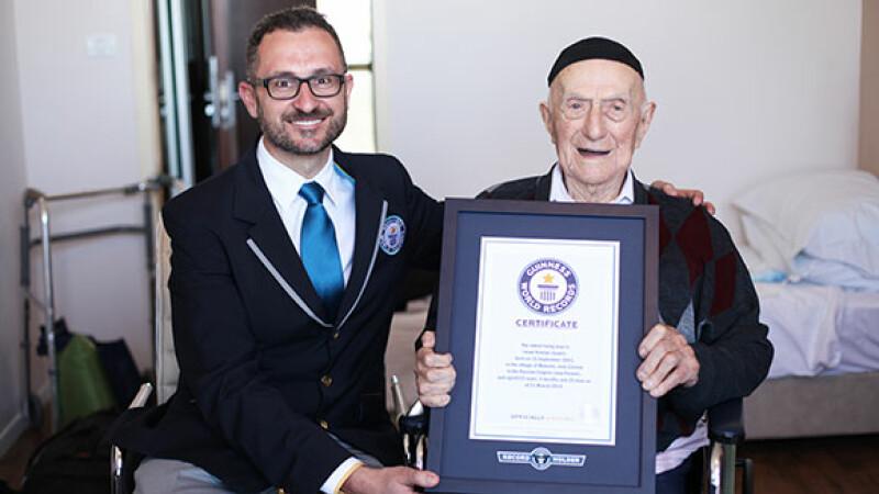 A supravietuit Holocaustului, a ajuns la 112 ani si a intrat in Cartea Recordurilor. Povestea celui mai batran om din lume