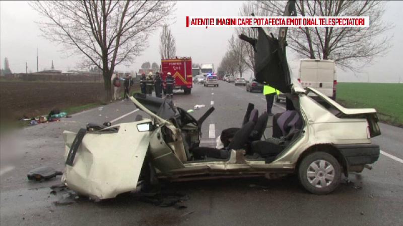 Doi morti si doi raniti intr-un tragic accident produs pe soseaua dintre Bacau si Roman. Soferul vinovat nu a patit nimic