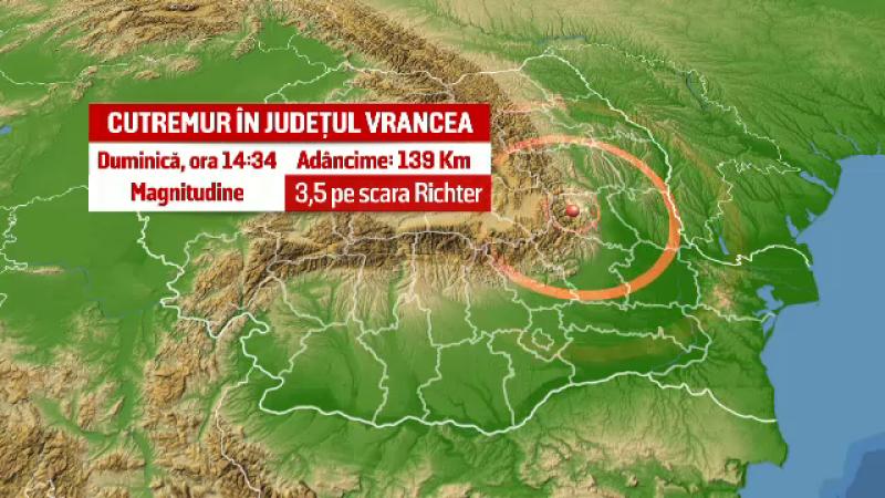 Cutremur cu magnitudinea de 3,5 in Vrancea. Al doilea seism din ultimele doua zile