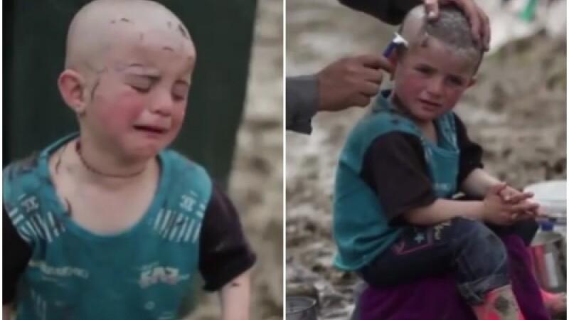 Imagini din tabara comparata cu un lagar nazist: copiii sunt rasi in cap din cauza paduchilor. VIDEO