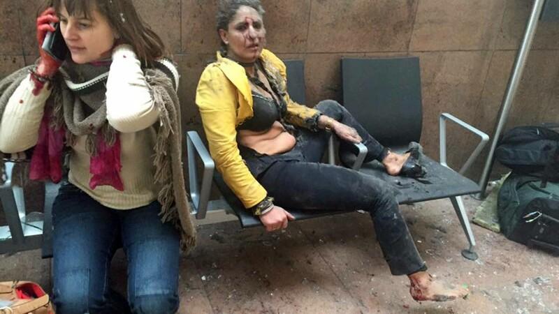 Imaginea simbol a atentatelor de la Bruxelles. Cine este femeia din poza care a facut inconjurul lumii